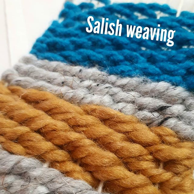 Because @weavingwoman is gifted at teaching, I'm actually weaving traditionally! #knowledge #weaving #salishweaving - from Instagram