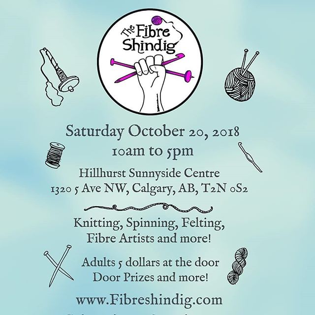 We will have our fibre animal mugs, yarn bowls, shawl pins, and buttons for you on Oct 20 at the Shindig. Last fibre show of the year in Calgary for 2018 so don't miss it!.Repost from @fibreshindig -  Next show is Saturday October 20th 2018. See you there!!...#fibreshow #fibreshindig #yarn #knitting #crochet #weaving #handspun #spinningfibre #handdyedyarn #felting #knittingdesigner #spindle #projectbags #stitchmarkers #progresskeeper #merinowool #alpacafibre - from Instagram